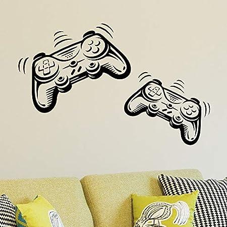 Joystick Playstation Gamepad Habitación de los niños Etiqueta de la pared Mural Vinilo Decal Nursery Kids Gamers Art Teenager Video Game Mural