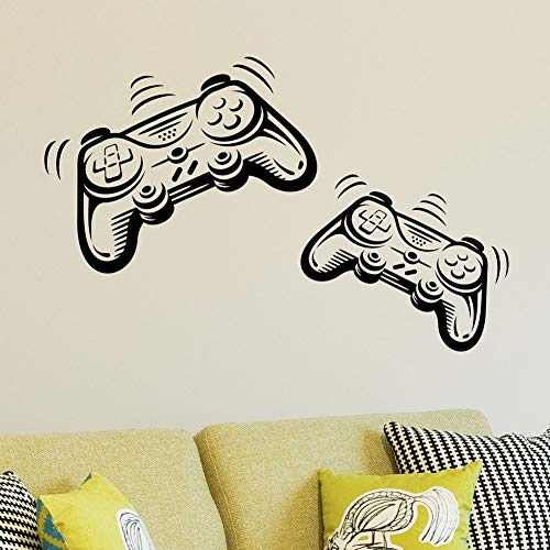 Joystick Playstation Gamepad Habitación de los niños Etiqueta de la pared Mural Vinilo Decal Nursery Kids Gamers Art Teenager Video Game Mural