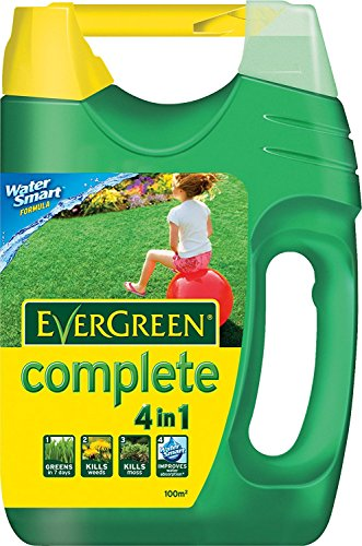 Scotts Miracle-Gro 2 X EverGreen Complete Lawn Food, Weed and Moss Killer Spreader, 100 sq m