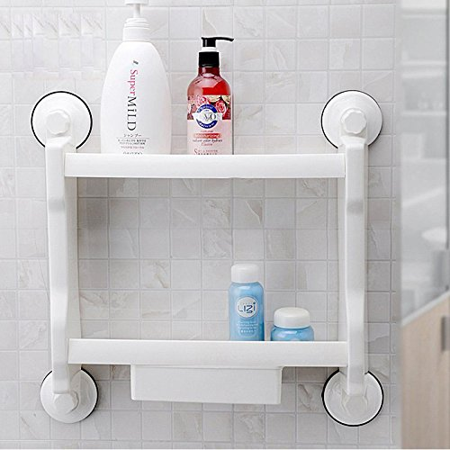 Edge to Shelf Sucker rekken badkamer toilet toilet twee wandplanken met laden Gratis Gratis nagelboor