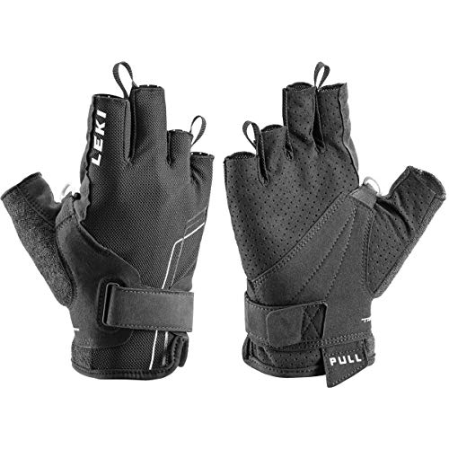 LEKI Nordic Breeze Shark short Handschuhe, schwarz-weiss, 8