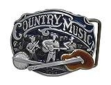 Hebilla para cinturón de cuello y music Cowboy guitarra banjo.