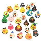 Livativ Playko 2 Inch Rubber Ducks - Rubber Ducks in Bulk - Rubber Duckies - Rubber Ducks for Pool - Pool Floats for Kids - Colorful Bathtub Toys (Alphabet Rubber Duckies (Pack of 26))