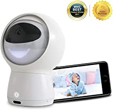 Hubble Hugo Video Baby Monitor, 1080P Smart Baby Monitor With Amazon Alexa , Baby Monitor with Camera and Audio, Two-Way Audio, Lullaby, Night Vision, Remote Viewing Pan/Tilt (AI Robot)