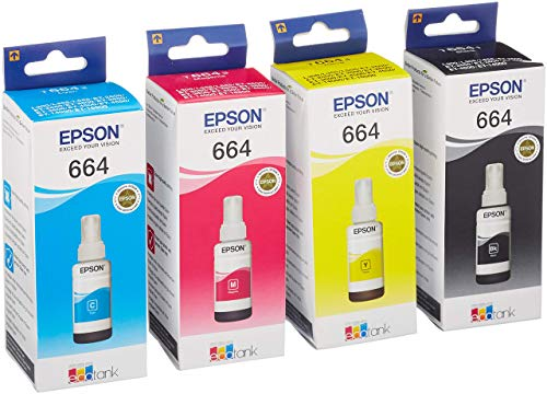 EPSON Original Refill Ink Set (T6641 T6642 T6643 T6644) for L100 L110 L120...