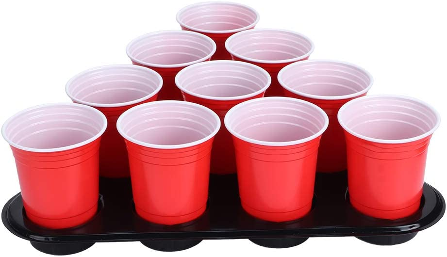 Party Game Kit Drinking Cup with 10-hole Teacup Tray Reusable 50