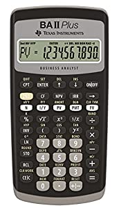 Texas Instruments BAII PLUS - Calculadora financiera, negro