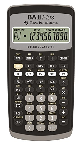 Texas Instruments TI-BA II Plus - Calcolatrice finanziaria VE=1