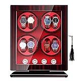 SYN-GUGAI Watch Enrollador Enrollador De Reloj para 8 Relojes Automáticos, Almohadillas Ajustables para Reloj Universal, Exterior con Acabado De Piano, Iluminación LED Incorporada (Color : B)