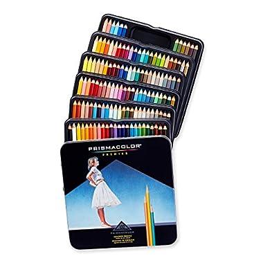Prismacolor 4484 Premier Colored Pencils, Soft Core, 132-Count