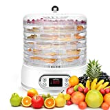 KGK Dehydrator for Food and Jerky 6 Trays Food Dehydrator with Mesh Screen&Fruit Roll Sheet, Digital...