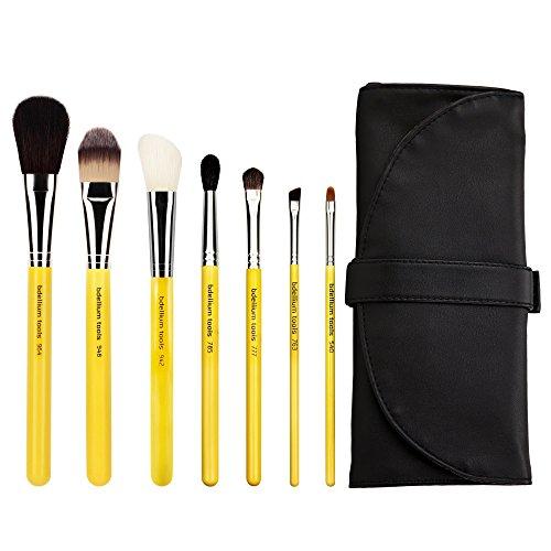 Bdellium Tools Professional Antibacterial Makeup Studio Line Basic Lot de pinceaux avec étui Roll Up Lot de 7