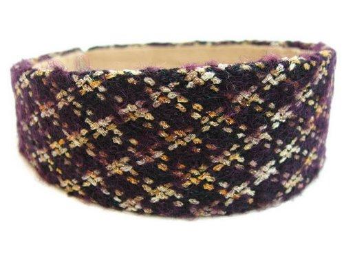 rougecaramel–Accesorios Cabello–Invernadero cabeza/Headband Large lana acolchado–morado