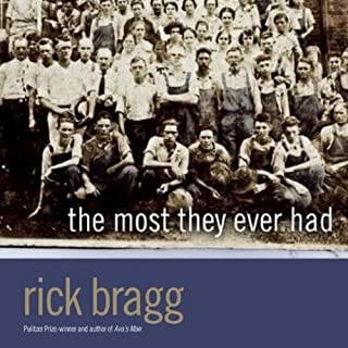 The Most They Ever Had                   By:                                                                                                                                 Rick Bragg                               Narrated by:                                                                                                                                 Rick Bragg                      Length: 4 hrs and 15 mins     110 ratings     Overall 4.7