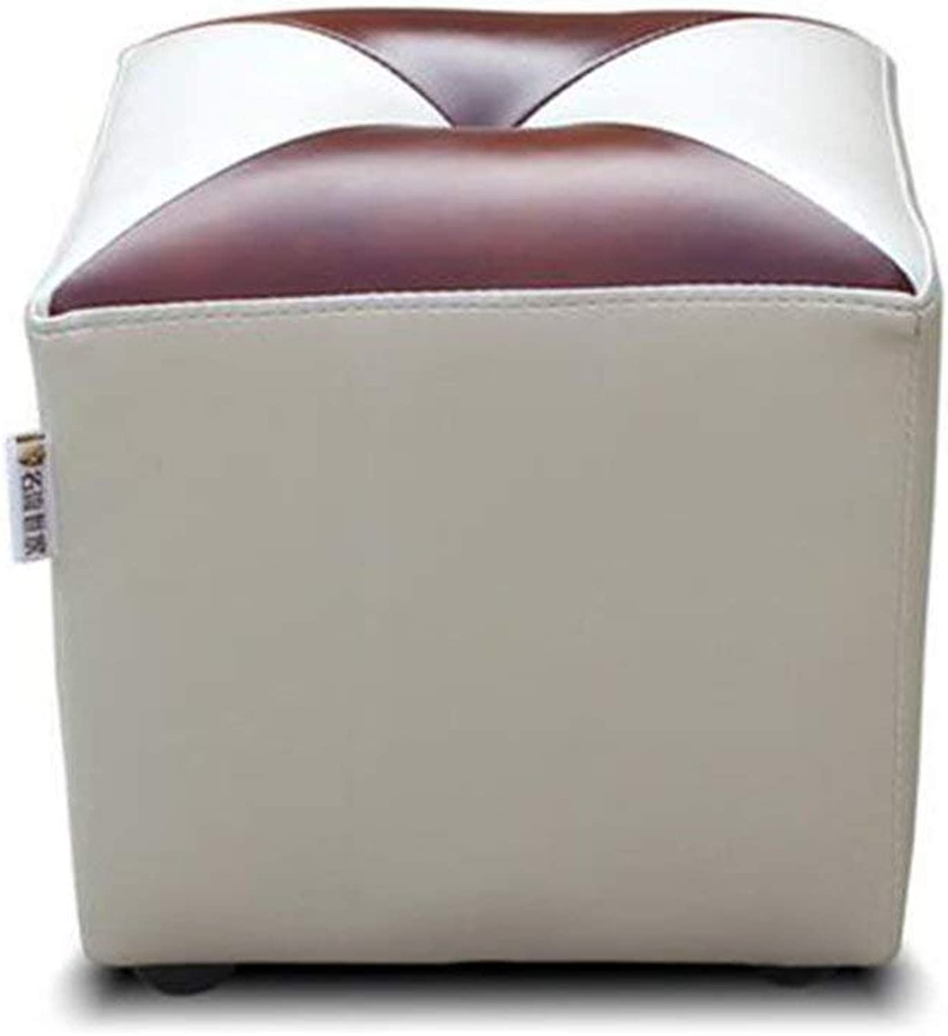 QTQZ Brisk- Imitation for shoes Stool European Style Living Room Round Sofa Stool Fashionable Dressing Stool Footstool (color Style Optional) (color  B)