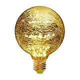 LEDフィラメント電球 エジソン装飾電球 白熱電球 ヴィンテージスタイル 暖かい 白星空装飾 星空 銅線電球 ホーム 室内 照明 パーティークリスマスの結婚式の装飾ギフト休日ラ イト G95 E26 濃い電球色2300K 3W(G95-1)