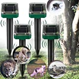 Ahuyentador solar de topos ultrasónico, repelente de topos, repelente de plagas e impermeable IP56 para gatos y perros