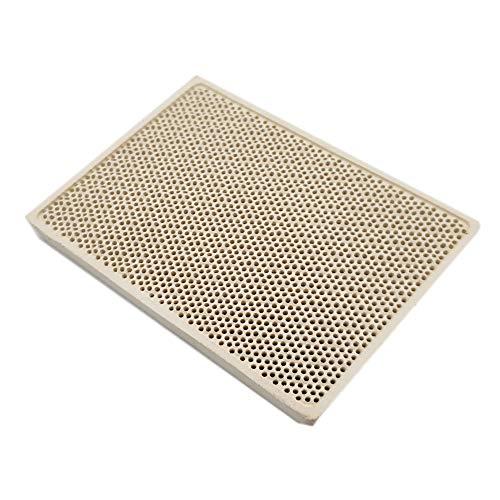Meter Star Cordierit-Keramikbrenner, Hochtemperaturplatte, Gasgrill-Ersatzteile, Herd-Heizkamm, 132 x 92 x 14 mm