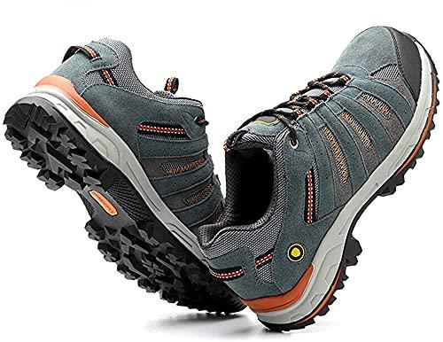 HOUJIA Zapatos de Seguridad de Cuero Botas de Trabajo de Entrenamiento de Seguridad de Verano para Hombre Protección contra peligros eléctricos 6000V