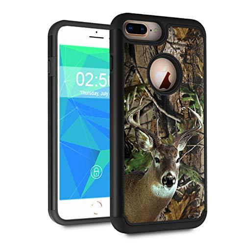 iPhone 7 Plus Case, iPhone 8 Plus Case,Spsun Dual Layer Hybrid Hard Protector Cover Anti-Drop TPU Bumper for Apple iPhone 7 Plus (2016)/iPhone 8 Plus (2017),Deer Hunting Camo