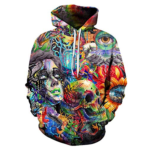 2020 New 3D Color Painting Men's Hooded Sweatshirt Autumn Fashion Street Youth Couple Hooded Sports Tops Casual Hooded