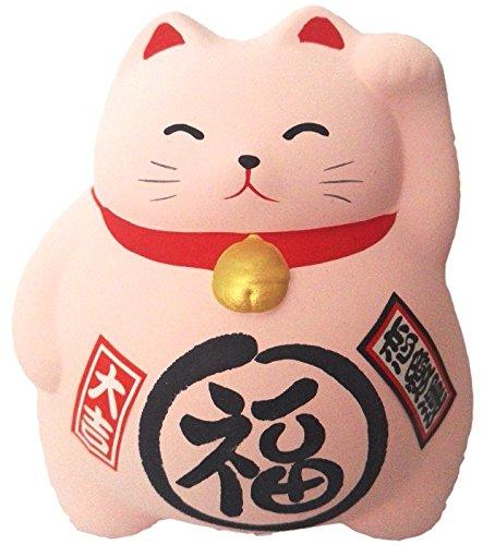 Hucha con diseño de gato grande Maneki Neko, 100% japonés, diferentes colores disponibles, cada uno con su simbología, Rose