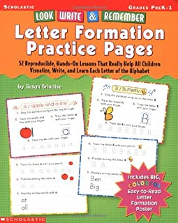Look, Write & Remember Letter Formation Practice Pages: 52 Reproducible, Hands-On Lessons That Really Help All Children Vi...