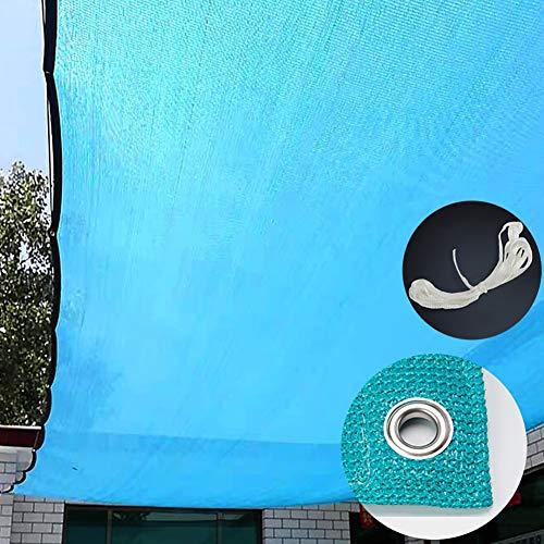 Schattierungsnetz YXX Blau Schwimmbad Schattentuch mit Tülle & Seil,  85% UV-beständiges Sonnenschutz-Stoffnetz  für Pergola, Pavillon, Deck, Carport, Dach (Size : 4mx8m)