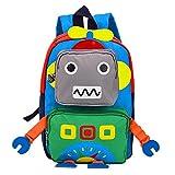 TeMan Sac à Dos de Cartable de Maternelle pour le Robot d'enfants Vert