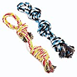 Dog Rope Toys Dog Grinding Teeth 2 Nearly Indestructible Dog Toys Dental Cleaning Product Prevents Boredom and Relieves Stress (2 Packs)