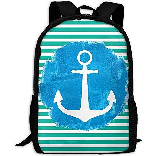 Schoudertas, zeeman oceaan blauw anker volwassen reizen rugzak school casual dagtas Oxford outdoor laptop tas college computer schoudertassen