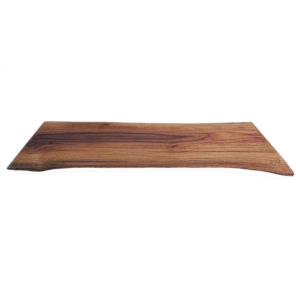 海外で宿るセーブ花台 木製 アメリカンウォールナット 15mm厚35 1枚板 床の間 玄関 飾り台 1点物
