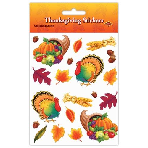 Thanksgiving Stickers (4 Shs/Pkg)