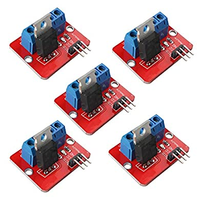 5pcs IRF520 MOSFET Driver Module MOSFET Button Drive for Arduino MCU ARM Raspberry PI