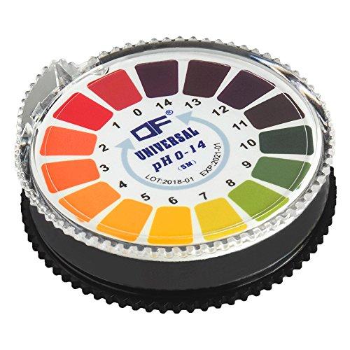 ECENCE 1 Stck. pH Teststreifen auf Rolle, Messbereich 0-14, Lackmus Indikator Universalpapier, Säuretest für Aquarien, Trinkwasser