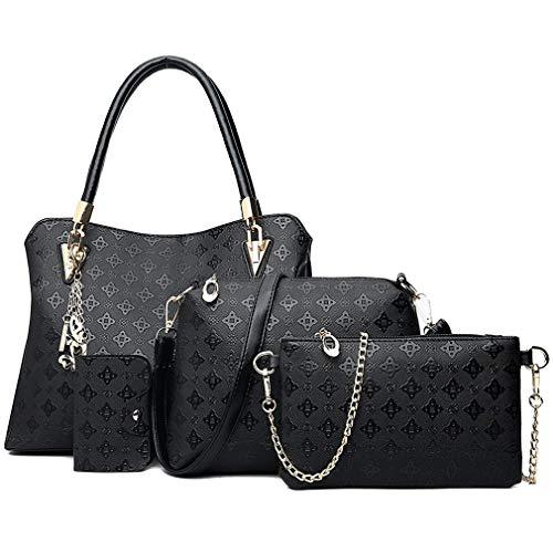 Pahajim bolso de las señoras señoras de regalo set señoras personalidad bolsa de cosméticos 4 unidades set bolso de las señoras de la manera bolso de las señoras de la moda