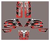 Fyjhunann Protector de gráficos de Motocicletas Fondos de calcomanías Etiquetas engomadas Kits para Yamaha Banshee 350 Todos los años hnfyj (Color : 1)