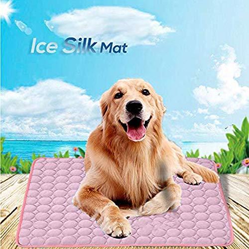 Pejoye Manta Perro Manta Refrescante Perro Seda de Hielo Manta Mascota Disipa el Calor de Tu Mascota Mantenlos Frescos en el Cálido Clima de Verano (XL 102 * 70cm)