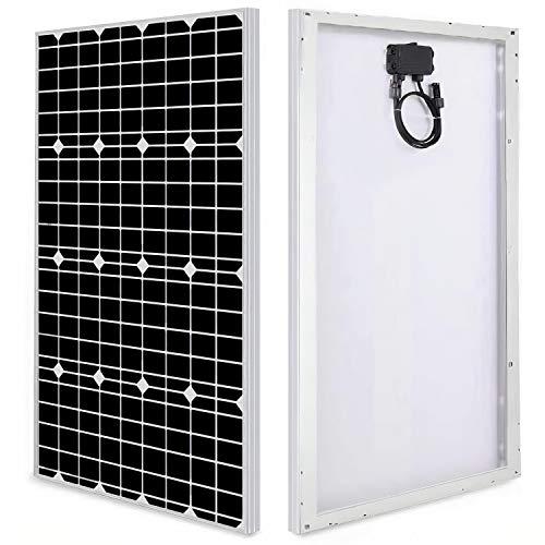 Panel Solar 100W 12V Monocristalino PERC - Panel Solar para Campers, Autocaravanas, Barcos y Montaje en Techos - Placa Solar Autoconsumo - Portátil, Ligero y Resistente