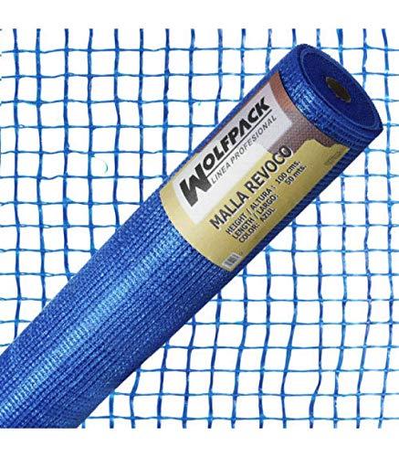 WOLFPACK LINEA PROFESIONAL 1202100 Malla Revoco Azul Rollo 50 MT. x 1 Metro. Luces 10x10 mm