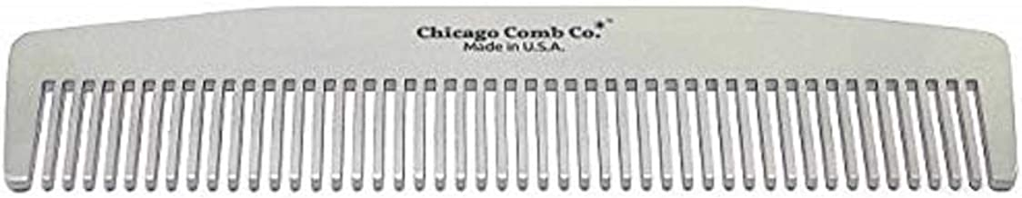 product image for Chicago Comb Model No. 3 Standard, Made in USA, Stainless Steel, Anti-Static, Ultra-Smooth, Strong, Durable, 5.5 in. (14 cm) Long, Medium-Fine Tines, Ultimate Daily Use, Pocket, Travel Comb