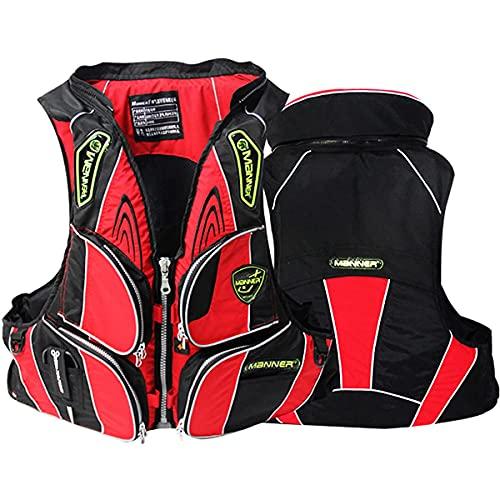 ZQNHXY Chaleco Salvavidas de Pesca para natación Segura Chaleco de flotabilidad Ajustable con múltiples Bolsillos para navegar, Surfear, bucear,S