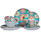 Best Everyday Dishes - 16pcs Melamine Dinnerware Set for 4, Outdoor Review