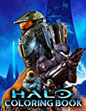 Halo Coloring Book: Play Your Favorite Game With Crayons, Gel Pens And Coloring Pages Inside The Astounding Book Of Halo Theme