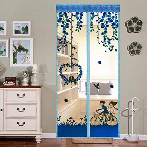 Mosquitera doméstica verano mosquitera cortina magnética puerta de pantalla suave, cierre automático magnético cortina de puerta de pantalla A3 W80xH210