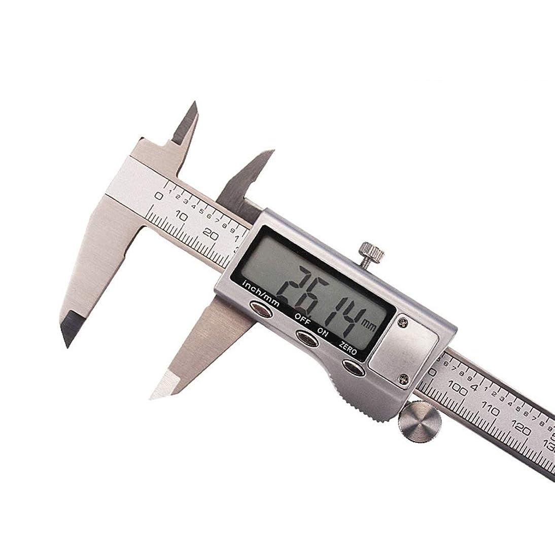 エゴイズムカロリー明るいデジタルノギス 4cr13ステンレススチールメタルヘッド電子ノギス150ミリメートル 測定工具 精密作業 ゼロリセット日曜大工DIY (色 : Silver, Size : 0-150MM)