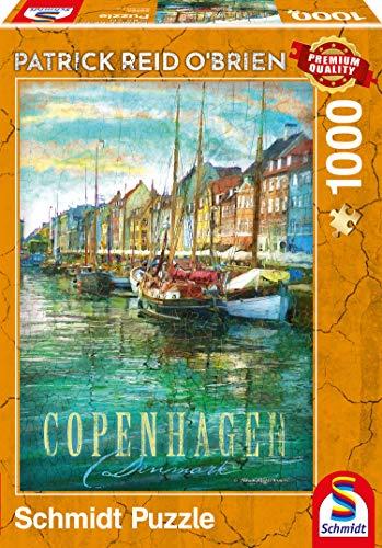 Schmidt Spiele Puzzle 59583 Patrick Reid O'brien, Kopenhagen, 1000 Teile