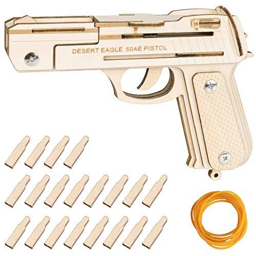 Decorlife IMI Desert Eagle Semi-Auto Pistol, 3D Wooden...