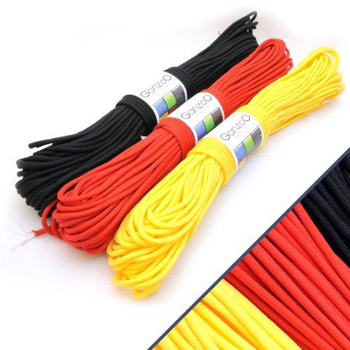 3 Pack universel de survie solide type corde de parachute résistance 550 \