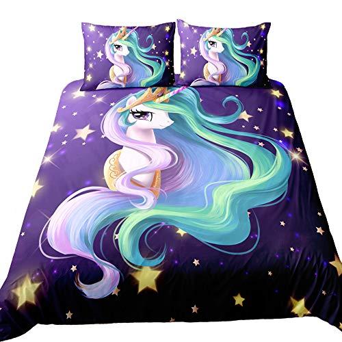 no Comforter Inside Queen Suncloris,Emoji Unicorn,Kids Gift Home Bedding Sheet Set.Included:1 Duvet Cover,2 Pillowcase